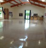 School Hall Floor Scrubbed & Resealed